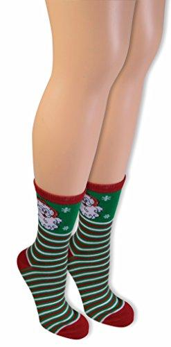 Forum Women's Ugly Christmas Ankle Socks, Santa, One Size