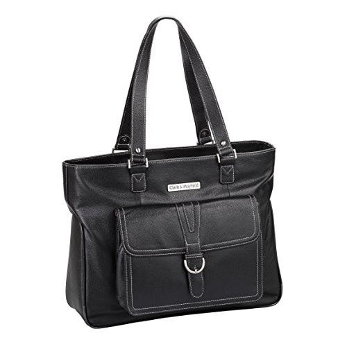 Clark & Mayfield Stafford Pro 17.3'' Leather Laptop Tote (Black) by Clark & Mayfield