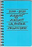 2019-2020 August to August Calendar Organizer- Pacific (Blue)