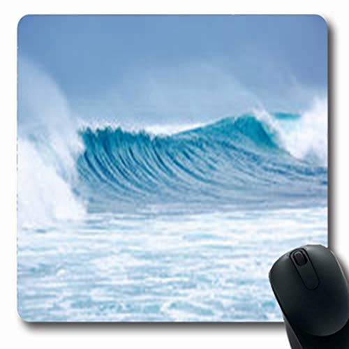 (Pandarllin Mousepads Crystal Massive Double Blue Waves White Wash Nature Adventure Parks Outdoor Fog Oblong Shape 7.9 x 9.5 Inches Oblong Gaming Mouse Pad Non-Slip Rubber Mat)