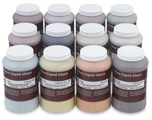 AMACO F-Series Glaze Classroom Pack, Assorted Colors, Set of 12 Pints by AMACO