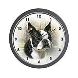 CafePress – Boston Terrier Wall Clock – Unique Decorative 10″ Wall Clock