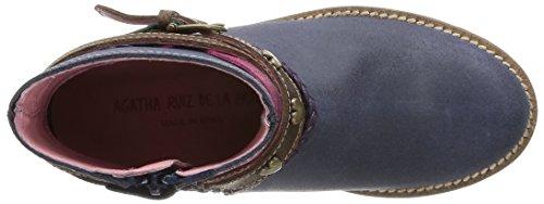 Agatha Ruiz de la Prada 141992 Mädchen Biker Boots Blau (A AZUL MARINO (ORLANDO))