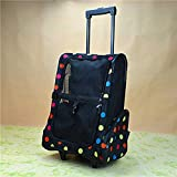 Yalztc-zyq16 Fashion pet Rolling Carrier Backpack, Dog Wheel in cat Duffel Bag pet Travel Carrier (Color : Multi-Colored)