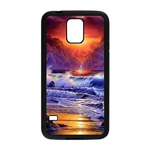 Custom Sunset,Beach,Sea Design Plastic Case Protector For Samsung Galaxy S5