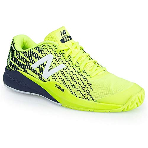 New Balance Men's 996v3 Tennis Shoe, hi lite/Pigment, 10.5 D US (Mens Shoes Yellow Tennis)