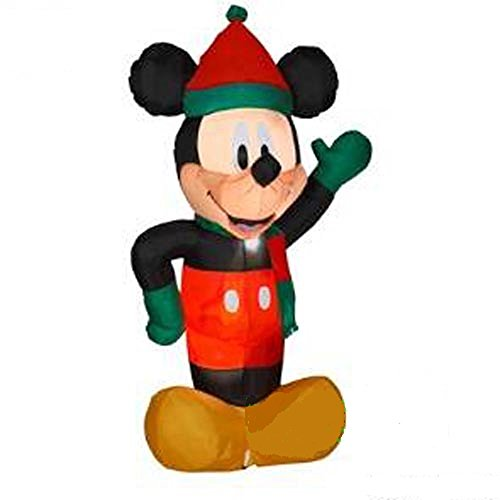 DISNEY CHRISTMAS INFLATABLE 6 FT TALL WAVING MICKEY MOUSE-BY GEMMY