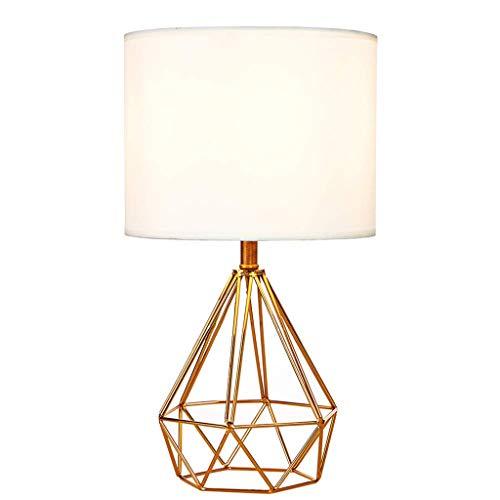 Hierro Sencilla Lámpara De Mesa De Salón De Diamantes Decoración ...