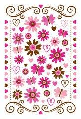 Doodlebug Themed Rub Ons 4 Inch by 6 Inch Sheet, Love Spell Doodlebug Rub Ons