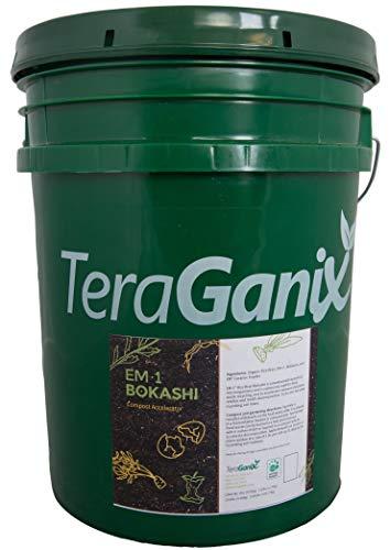 TeraGanix Bokashi EM-1 Organic Rice Bran Mix | 22lbs. - Dry Powder to Compost Food & Pet Waste Indoors for Better Planting Soil by TeraGanix (Image #3)