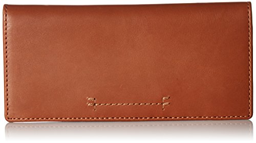Carson Continental Slim Snap Wallet Oiled Veg Wallet, Cognac, One Size by FRYE
