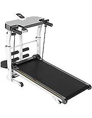 BABYCOW Katlanır Mekanik Koşu Bandı - 115 28 50 cm, Yürüyüş Koşu Koşu Egzersiz Makinesi, Taşınabilir Kardiyo Fitness Egzersiz Eğimi Ev Koşu Makinesi, Beyaz