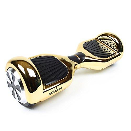 Bluefin Elektro Scooter E-Balance Skateboard 6.5 Zoll   Integrierte Bluetooth Lautsprecher & App   Leiser Motor   Für Kinder & Erwachsene   Samsung Batterie   UL 2272 & CE Getestet   Inkl. Tragetasche