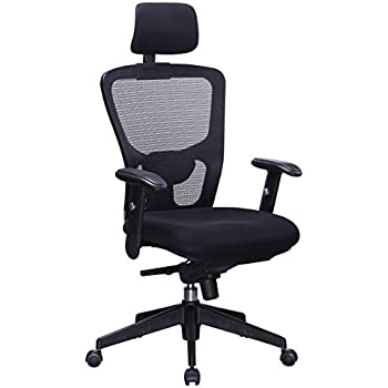 Amazoncom Office Factor Executive Managers High Back Black Mesh