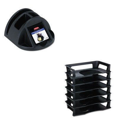 KITRUB86024RUB86028 - Value Kit - Rubbermaid Regeneration Letter Tray (RUB86028) and Rubbermaid Regeneration Desk Director (RUB86024)