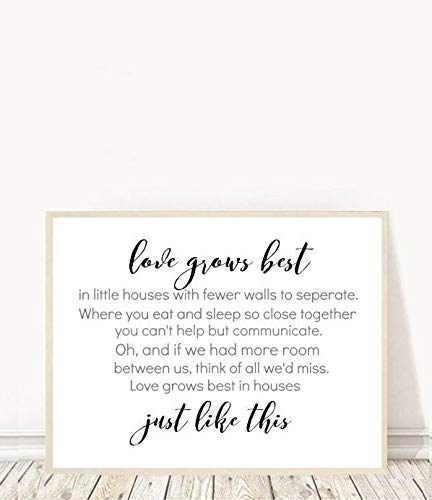 King65irginia Love Grows Best in Little Houses Entryway Art Hall Wall Art Family Print Printable Art Housewarming Gift Home Decor Wall Decor (Love Grows Best In Little Houses Printable)