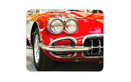 Retro Red Car Mouse Pad - Cars Racing Dad Brother Fun Mousepad Mouse Mat Gift Computer -8542 ()