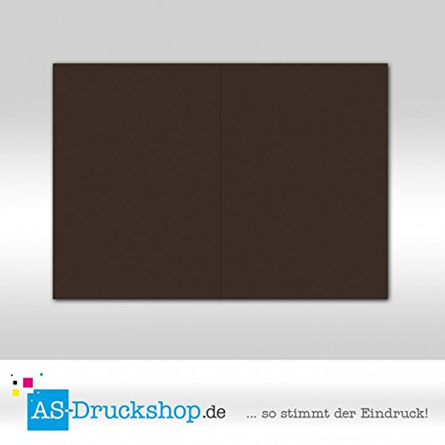 Faltkarte Doppelkarte - Schoko - Samt satiniert 50 Stück DIN B6 B07952NKDV | Outlet Online Store