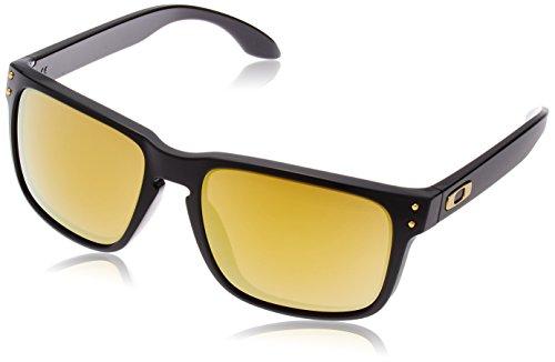 Oakley Men's Holbrook Sunglass, Polished Black/24k ()