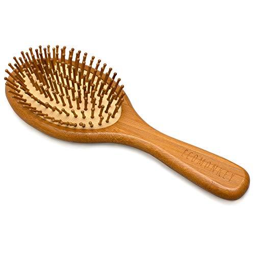 Bambus Haarbürste ✮ Zero Waste ✮ Plastikfrei ✮ 100% Vegan ✮ Nachhaltig ✮ Naturborsten aus Bambus ✮ Antistatisch ECOMONKEY®
