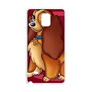 Samsung Galaxy Note 4 Cell Phone Case Covers White Lady and the Tramp II Scamp's Adventure Character Annette L4052299