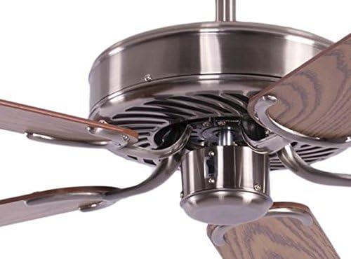 Ventilador de techo Potkuri Plata / roble 132 cm: Amazon.es ...