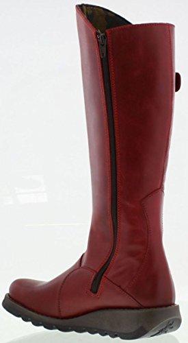 Fly London Mol 2 RojoCuero Mujeres Knee Hi Botas