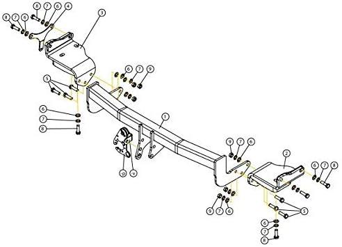 RDSOV boitier /électronique GDW Attelage Kia NIRO Hybride Faisceau Universel 7 Broches 06//16-