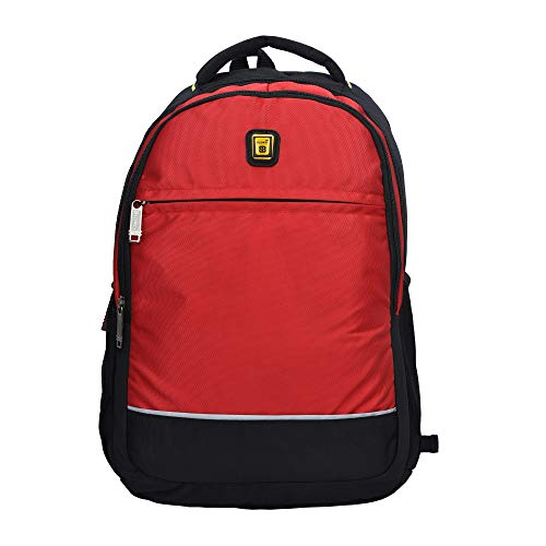 Blowzy Bags Waterproof,College School Bag with Laptop Compartment  Red