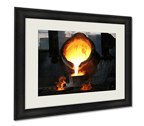 Ashley Framed Prints Metal Being Melted Foundry Make Various Pieces Industry, Wall Art Home Decoration, Color, 30x35 (frame size), AG6092602 by Ashley Framed Prints