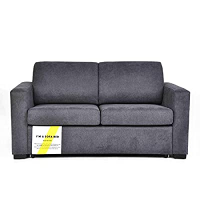Living Room Furniture Sofa - Pull-Out Sofa Bed - Ideal for small space as it can be pull on from loveseat to sleeper. A perfect design for daily sofa seating and become a guest bed after transforming. The sofa bed has a classy/neutral design that can be used in several different rooms in your house,like living room, play room, etc. The mechanism works very-easily unfolding and then foldind back into the frame, even your kid can do it in a few seconds. - sofas-couches, living-room-furniture, living-room - 41ghXV3H jL. SS400  -
