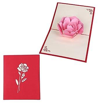 PopUpCard 68 3D Floral Pop Up Card And Envelope