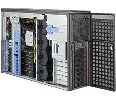 Supermicro SYS-7049GP-TRT SuperWorkstation Tower Desktop, 0 MB RAM, No HDD, ASPEED AST2400, Black Barebone