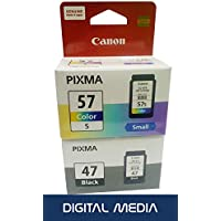 Canon PG-47 Black and CL-57S Color Cartridge Set (Combo of 2)