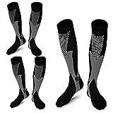 Product review for 3 Pairs Medical&Althetic Compression Socks for Men, 20-30 mmHg Nursing Performance Socks for Edema, Diabetic, Varicose Veins,Shin Splints,Running Marathon(Men8-14in Women8-15in)