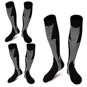 ZFiSt Sport Medical Compression Socks Men Women,1-3Pair 20-30mmhg Run Compression Socks for Nurse Edema Diabetic Travel…