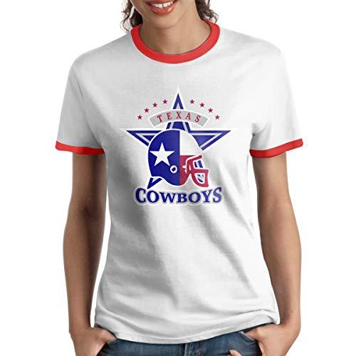 MiiyarHome Women's Ringer T-Shirt Russell Wilson, Ladies Tee Short Sleeves Teen Girls Jersey Shirt Red XXL