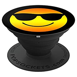 Happy Face Wearing Sunglasses Emoticon Cool Shades - PopSockets Grip and Stand for Phones and Tablets