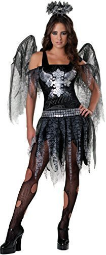 Teenage Girls Fallen Dark Angel + Wings Halloween Fairy Fancy Dress Costume Outfit 12-17 years (14-15 years)]()