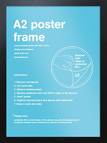 A2 Wooden Poster / Picture / Print Frame 42 x 59.4cm (Black) by Gb Posters
