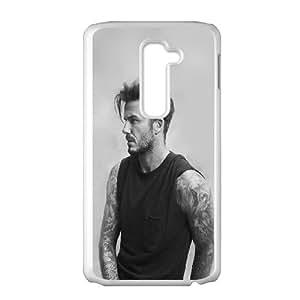LG G2 Cell Phone Case White hf10 beckham handsome bw sports good looking OJ640264