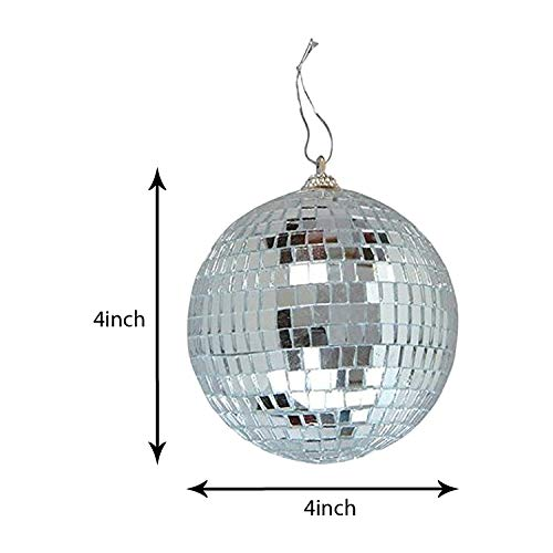 4'' Mirror Disco Lights - Silver Hanging Ball - Perfect for Home Decorations, Stage Props, Game Accessories, School Festivals, Party Favor and Supplies by Kidsco (Image #4)