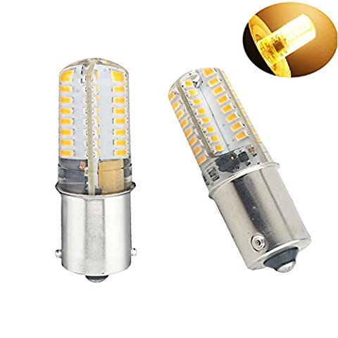 Bonlux 2-pack Single Contact Bayonet Ba15s LED Bulb 1141 1156 1073 1093 1129 LED Replacement DC10-20V Warm White for Interior RV Camper Yard (1156 Led Bulb Replacement)