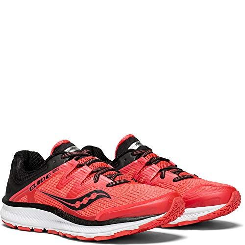 Saucony Women's Guide ISO Running Shoe, Vizi red/Black, 5.5 Medium US