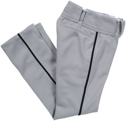 Mizuno Youth Select Pro Piped Pant (Grey/Black, Medium)