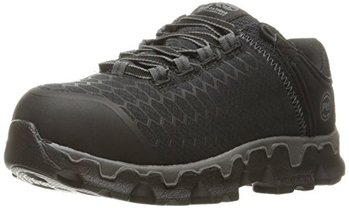 Timberland PRO Women's Powertrain Sport Alloy Toe SD+ Industrial and Construction Shoe, Black Synthetic, 8.5 W US