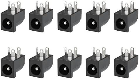 Male Plug Jack Connector SocketXH 10pcs 5.5x2.1mm DC Power Female Plug Jack