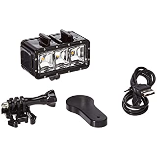 EACHSHOT Underwater 30m/98.4ft Waterproof High Power Dimmable LED Video POV Flash Fill Light Night Light