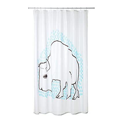 Amazon.com: Ikea Tydingen Shower Curtain, White/Blue: Home & Kitchen