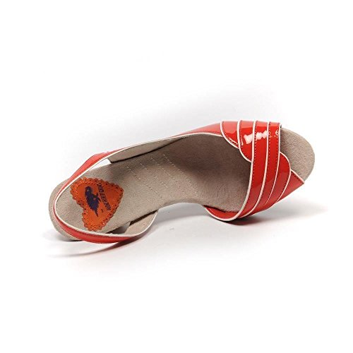 Rocket Dog Fate Zapatos Charol, color rojo Slingbacks Talla 40/UK 7 SB 446